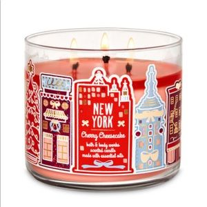 Bath & Body Works Cherry Cheesecake 3-Wick Candle